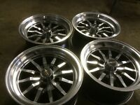 Ford escort MK 2 set 4 alloy wheels