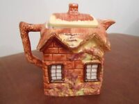 Vintage set of butterdishes and matching teapot