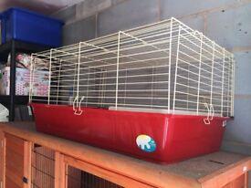 Indoor Red Rabbit Hutch