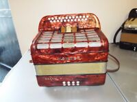 A Hohner Gaelic 4 voice accordion, great condition, plays well BC Tuning quick sale £425