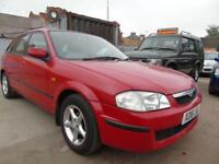 MAZDA 323 1.5 LXI 5d AUTOMATIC 88 BHP GOOD SERVICE YEAR MOT CLEAN (red) 2000