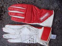 motorcycle leather racing type gloves made by Feildsheer