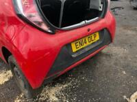 2014 TOYOTA AYGO REAR BUMPER IN FOR BREAKING SPARES PARTS CHELMSFORD ESSEX LONDON