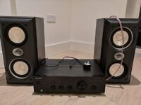 Wired Speakers (Sony) with Pioneer Amplifier
