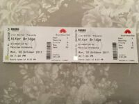 Alter Bridge Seated Tickets x2 at Royal Albert Hall Monday 2nd October