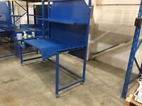 Professional quality heavy duty workbenches x 3 will sell individually - offers invited.