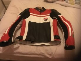 Ducati leather motorcycle jacket (new)