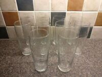 14 Pint Drinking Glasses - 10 x Stella Artois, 2 x Fluted, 2 x Strongbow *Good Condition Yate Area*