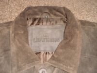 Soft Suede Leather Brown Jacket - Man's Large