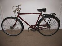 "Classic/Vintage/Retro Triumph 21"" Single Speed Commuter/Town Bike (BRAND NEW tyres)"