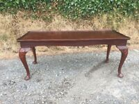 Mahogany effect wooden coffee table