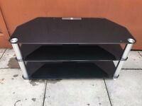 Black glass tv stand excellent condition almost looks new