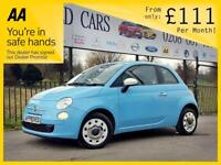 FIAT 500 1.2 COLOUR THERAPY 3d 69 BHP Apply for finance Onl (blue) 2015
