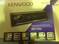 KENWOOD KDC BRAND NEW BOXED CD MP3 STEREO I PHONE ANDROID RECEIVER FRONT USB/AUX