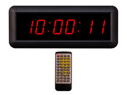 Eu 1.5 6 Digits Red HH:MM:SS Led Countdown Count Up Stopwatch With Remote Contr