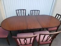 Delivery - Extendable Dining table and chairs