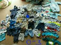0-3 large job lot of baby boys clothes