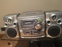 CD + Tape Player AUX Stereo