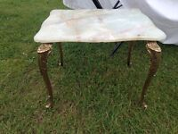 Shabby chic table in great condition brass legs good quality call me 07874827491