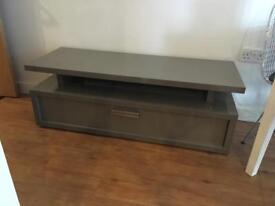 High gloss grey TV stand