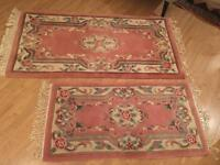 Pair of luxurious Chinese rugs; dimensions in pics in LIKE NEW