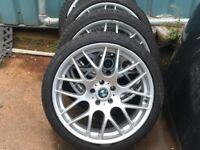 BMW Alloy Wheels 20 inch New Tyres 5 series excellent