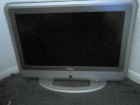 32 inch Bush TV. Snare Drum with Practise Pad. Electric Acoustic Guitar