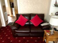 Leather sofa - 3 and 2 seater