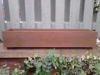****NEW WOODEN PLANTERS,WINDOW BOX,60-120 cm GARDEN FLOWER PLANTER BOX HERB,BEDDING PLANT