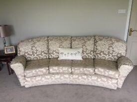 Unique curved designer sofa