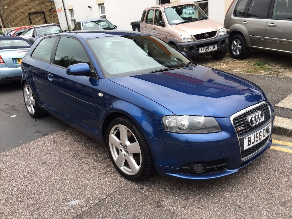 audi a3 2 0 tfsi 200bhp s line auto 3dr blue 2006 56 leather full service history bose sound. Black Bedroom Furniture Sets. Home Design Ideas