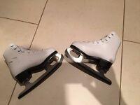 SFR Galaxy childs ice skates skating boots UK size 12 J /Euro 30.5 white, VGC