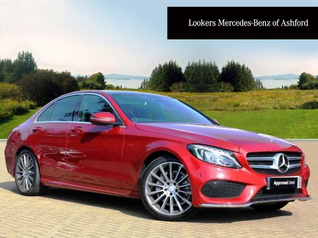 mercedes benz c class c220 d amg line premium plus red 2016 09 15 in ashford kent gumtree. Black Bedroom Furniture Sets. Home Design Ideas
