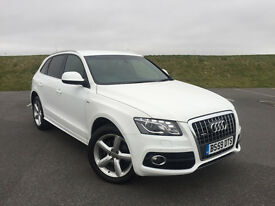 STUNNING AUDI Q5 2.0 TDI S-LINE S QUATTRO AUTOMATIC IN WHITE LOW MILEAGE FULL SERVICE HISTORY!