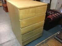 IKEA MALM SIX DRAWER CHEST