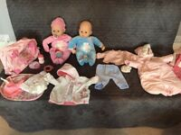 Baby Annabell Doll & Brother Doll with changing bag, 1 full outfit, coat and winter all in one.