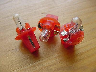 3x 2721MFX 12V Mini Instrument Dashboard Panel Gauges Light Bulbs For Imports