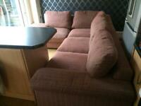 Harvey's comfy brown corner sofa good condition
