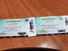 British Summer Time Concert - Justin Bieber and Martin Garrix
