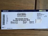 1 ticket to Justin Bieber - Manchester, 23rd Oct 2016
