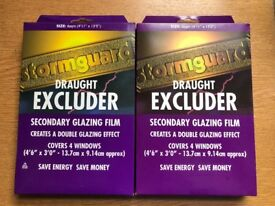 Stormguard Secondary Glazing Window Insulation Film - 1 completely new and 1 new left over.