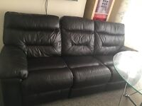 Dfs leather recliner sofa