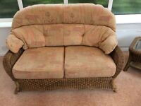 Conservatory furniture- sofa, two armchairs and matching coffee table