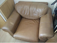 Pair of used leather armchairs (donation)