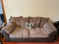 Ex-DFS 3 seater, 2 seater and storage footstool