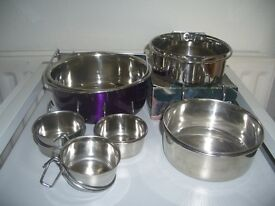 New Stainless Steel Feeding Dishes