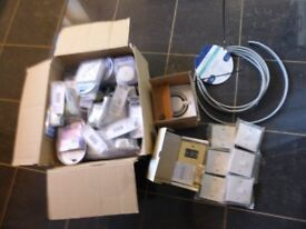 Electrical sockets, switches, shaver socket and extractot fan - job lot