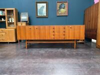 Teak Mid Century Sideboard from Gimson and Slater's Vesper Range. Retro Vintage Mid Century
