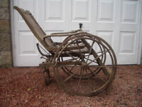 Vintage Wooden Wheel Chair
