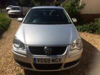 2009 VOLKSWAGEN POLO 1.2 Match 70 LOW MILEAGE. EXCELLENT CONDITION. Silver. Two owners from new.
